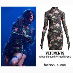 Vetements glove dress NWT